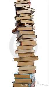 hoge stapel boeken